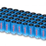 50 Pcs of Tenergy CR123A 1300mAh Lithium Batteries