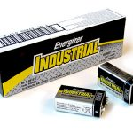 1 Box: 12pcs Energizer Industrial 9V Size (EN22) Alkaline Batteries