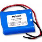 Tenergy Li-Ion 18650 11.1V 2200mAh Rechargeable Battery Pack w/ PCB Protection