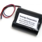 Tenergy Li-Ion 18650 11.1V 2600mAh PCB Protected Rechargeable Battery Pack w/ Thermister