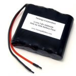 AT: Side by Side Li-Ion 18650 7.4V 5200mAh Rechargeable Battery with 22AWG Bare Leads