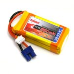 Tenergy 11.1V 1350mAh 20C LIPO 3 Cell Battery Pack w/ EC3 Connector for Helicopter