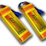 2 Packs: Tenergy 11.1V 2200mAh 25C 3 Cell LIPO Battery Packs w/ EC3 Connectors