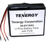 AT: Tenergy 29.6V 16Ah w/ PCB Li-Poly Rechargeable Battery Pack (DGR)