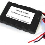 AT: Tenergy Li-Ion 18650 7.4V 7800mAh Side-by-Side PCB Protected Rechargeable Battery Module w/ Bare Leads