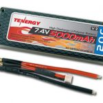 Tenergy 7.4V 5000mAh 20C LIPO Hard Case Battery Pack for RC Cars