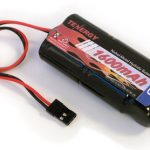 AT: 6V 1600mAh NiMH Flat Receiver Battery Pack with Hitec Connector