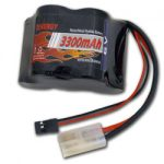Tenergy 6V 3300mAh Hump NiMH Battery Receiver Packs w/Tamiya & JR Connector