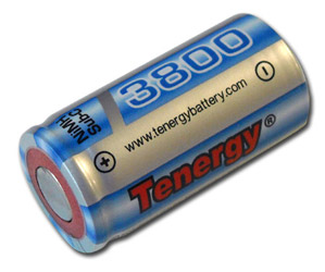 Tenergy Propel Sub C 3800mAh NiMH Flat Top Rechargeable Battery Special Size w//tabs