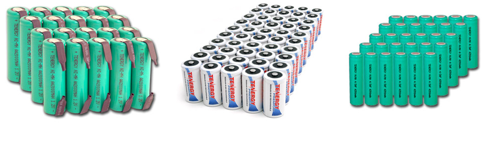 Rechargeable Batteries Available In: AA, AAA, C, D, & 9V