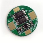 Protection Circuit Module (PCB) Round for 3.7V Li-Polymer Battery 3.5A Working (6A cut-off)