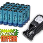 Combo: Tenergy T-2833 AA/AAA NiMH Charger + 20 AA 2600mAh Rechargeable Batteries