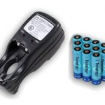 Combo: Tenergy T-2833 AA/AAA NiMH Charger + 12 AA 2600mAh Rechargeable Batteries