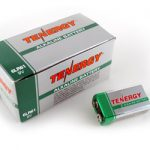 1 Box: 12pcs Tenergy 9V Size (6LR61) Alkaline Batteries