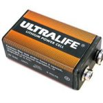 Ultralife 9V Lithium Battery U9VL-FP Foil Pack, Long Life, Plastic Casing Foil Pack